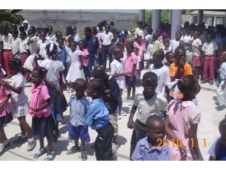 Nyrvah Florens Bruno reçoit les enfants de la Croix-des-Bouquets,