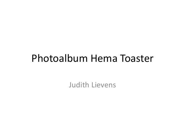 Photoalbum Hema Toaster Judith Lievens