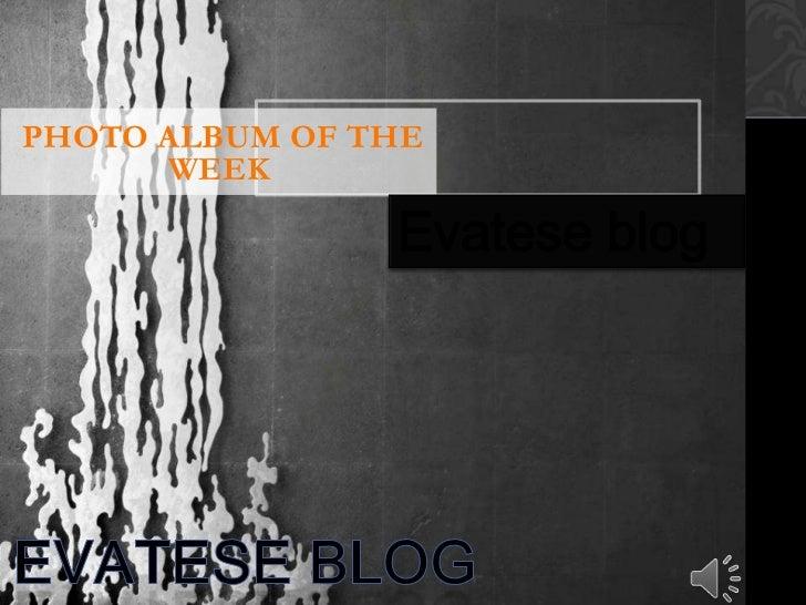 PHOTO ALBUM OF THE      WEEK                Evatese blog