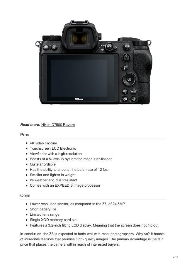 Nikon Z6 and Z7 Full-Frame Mirrorless Cameras: Everything