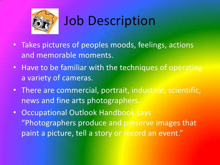 Photography Career Powerpoint – Photographer Job Description
