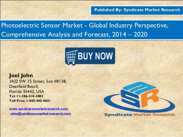 Published By: Syndicate Market Research Photoelectric Sensor Market - Global Industry Perspective, Comprehensive Analysis ...