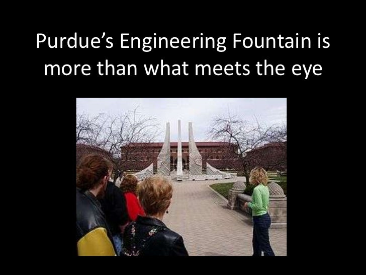 Purdue's Engineering Fountain is more than what meets the eye<br />