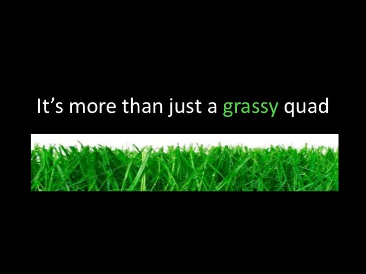 It's more than just a grassy quad<br />
