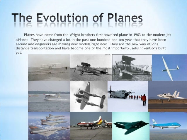 History of airplanes essay
