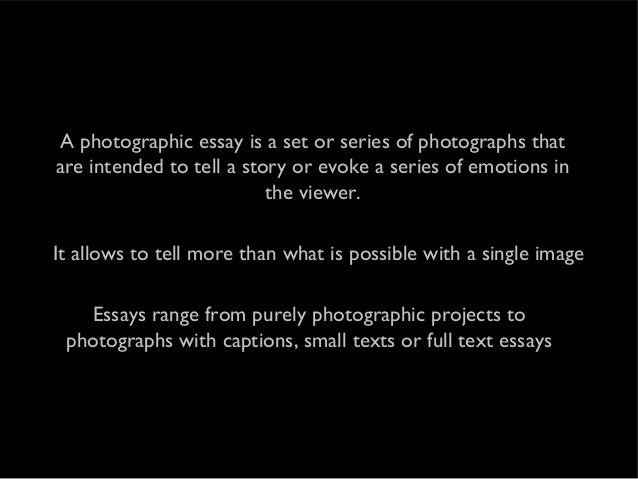 Photography essay topics