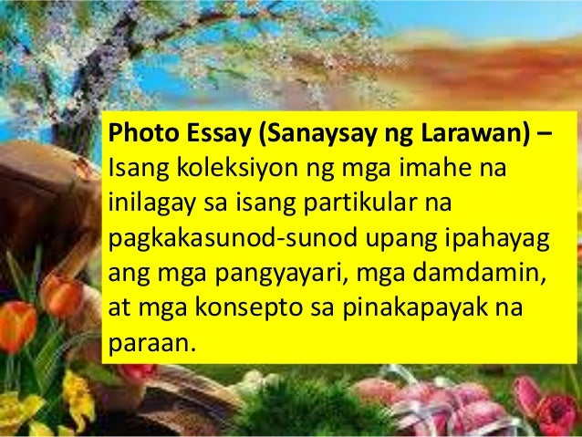 halimbawa ng essay na tagalog Free essays on halimbawa ng disertasyon tagalog version for students use our papers to help you with yours 1 - 30.