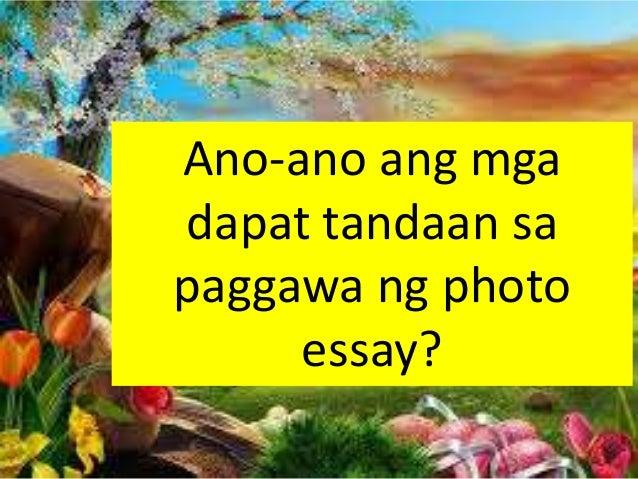 anung tagalog ng essay