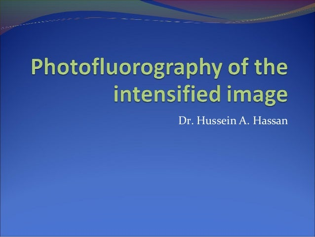 Dr. Hussein A. Hassan