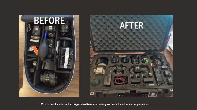Our inserts allow for organization and easy access to all your equipment