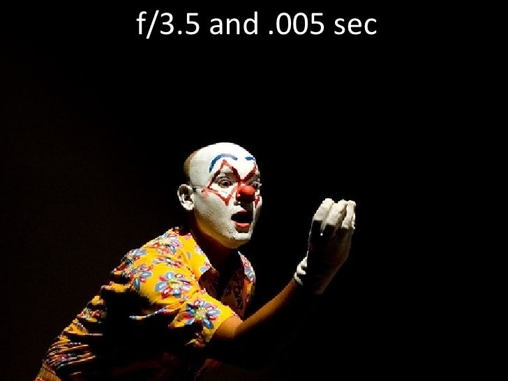 f/3.5 and .005 sec