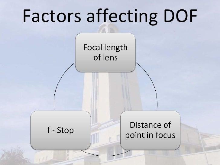 Factors affecting DOF