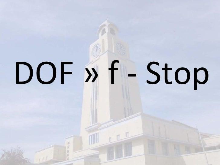 DOF » f - Stop