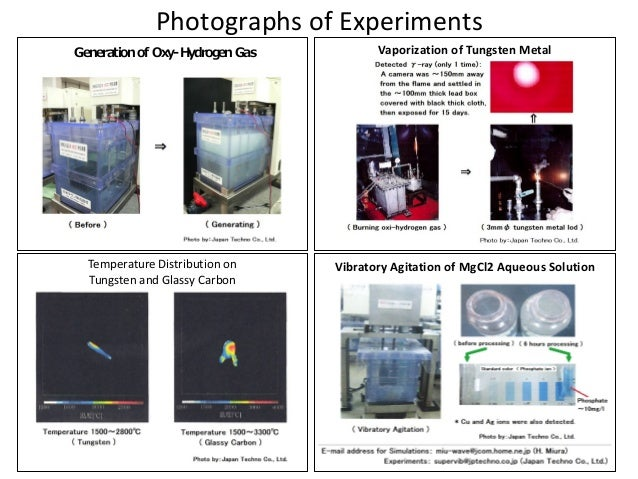 Photographs	   of	   Experiments	 Vaporization	   of	   Tungsten	   Metal Temperature	   Distribution	   on	    Tungsten	 ...