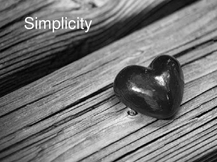 Simplicity<br />