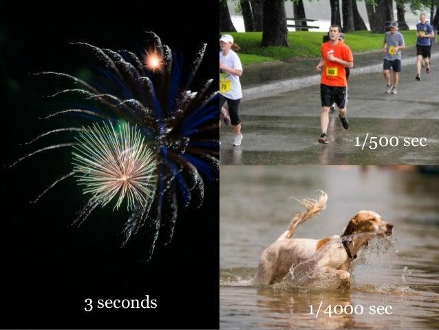 3 seconds 1/4000 sec 1/500 sec