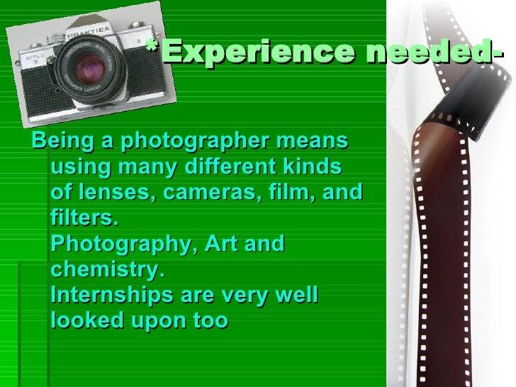 Photographer Presentation Example Slide 3
