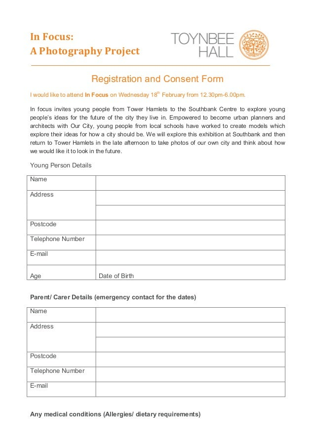 Photography Consent Form