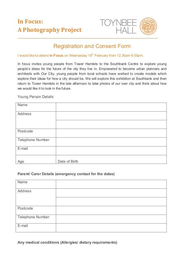Photography consent form – Photography Consent Form