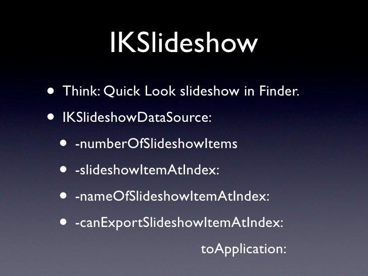 The Ecosystem  iPhoto       Aperture      Your App!    Image Kit    Quicktime      Core Image                  Image IO   ...