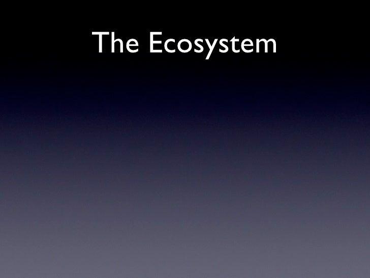 The Ecosystem  Image Kit    Quicktime      Core Image                  Image IO                Image Capture