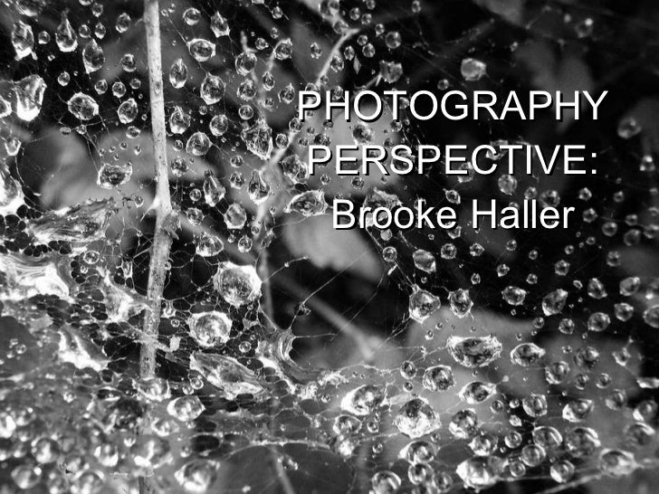 PHOTOGRAPHY PERSPECTIVE: Brooke Haller