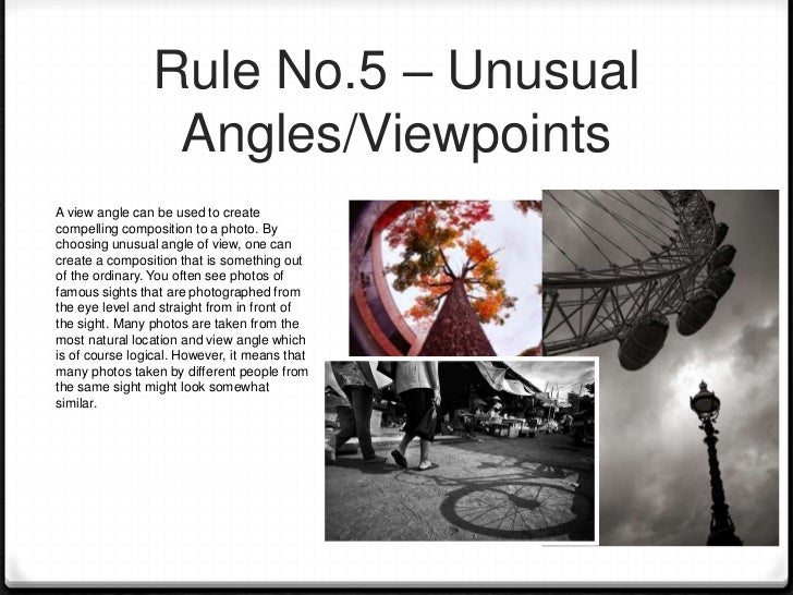 Rule No.6 – Depth Of FieldDepth of field is a characteristic of a camerathat can be used to enhance the photo. Thecloser t...