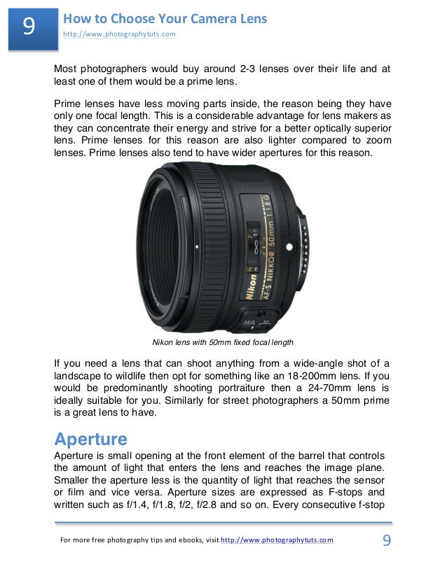 Photography Tutorial: How to Choose Your Camera Lens