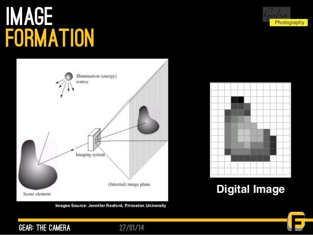 27/01/14 image gear: the camera formation Images Source: Jennifer Rexford, Princeton University Digital Image
