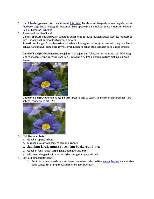 1. Untuk berlangganan artikel melalui email, klik disini. Facebooker? Jangan lupa kunjungi dan sukai facebook page Belajar...