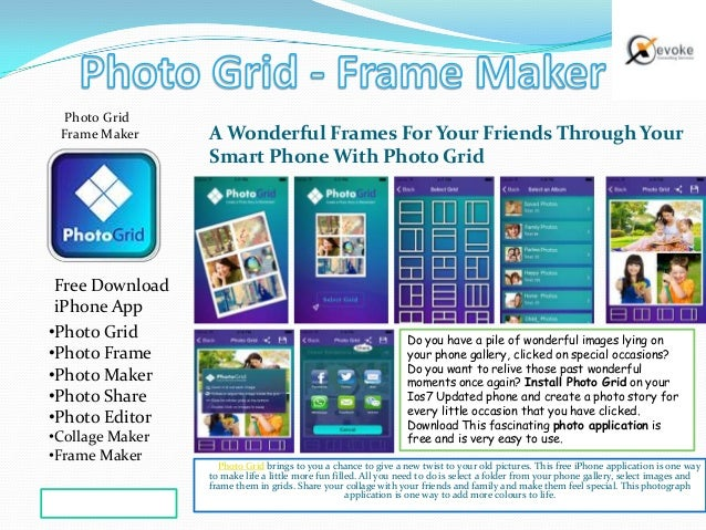 Photo grid frame maker on iTunes