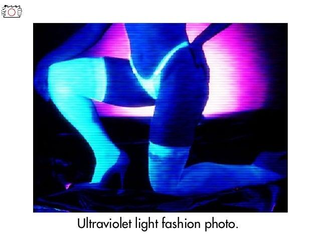 Ultraviolet light fashion photo.