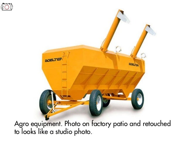 Agro equipment. Photo on factory patio and retouched to looks like a studio photo.