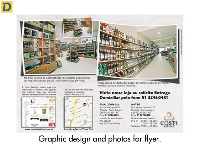 Graphic design and photos for flyer.