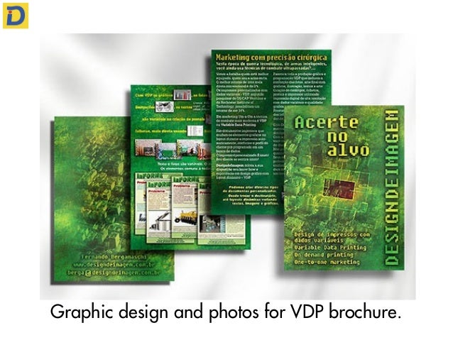 Graphic design and photos for VDP brochure.
