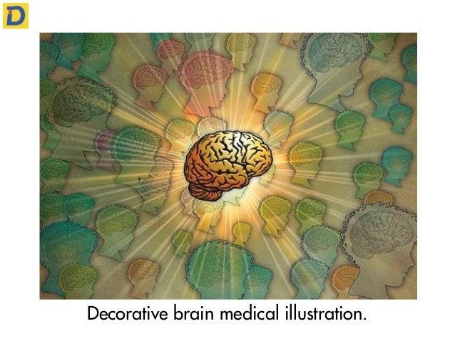 Decorative brain medical illustration.