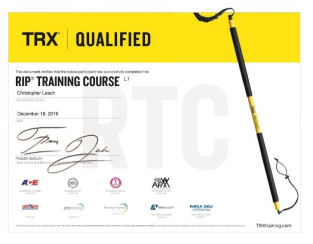 TRX Rip Training Certification