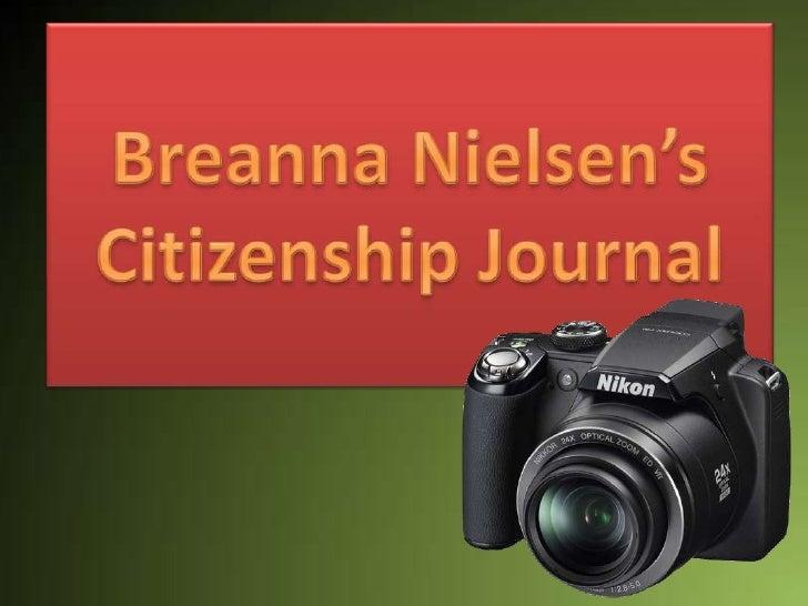 Breanna Nielsen's Citizenship Journal<br />