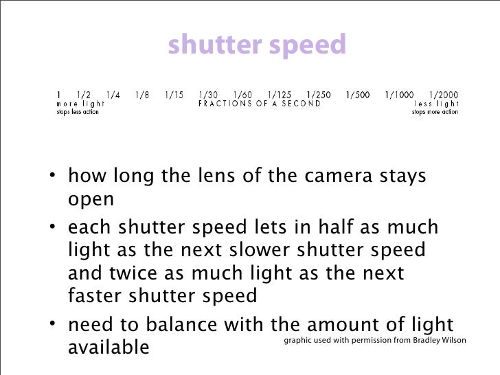 shutter speed                          photos by Liz Grovera fast shutter speed will stop the action