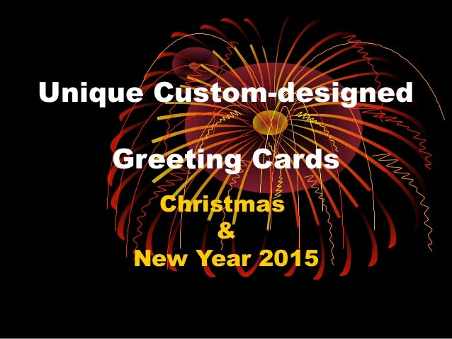 Photo magic new year greetings unique custom designed greeting cards christmas new year 2015 m4hsunfo
