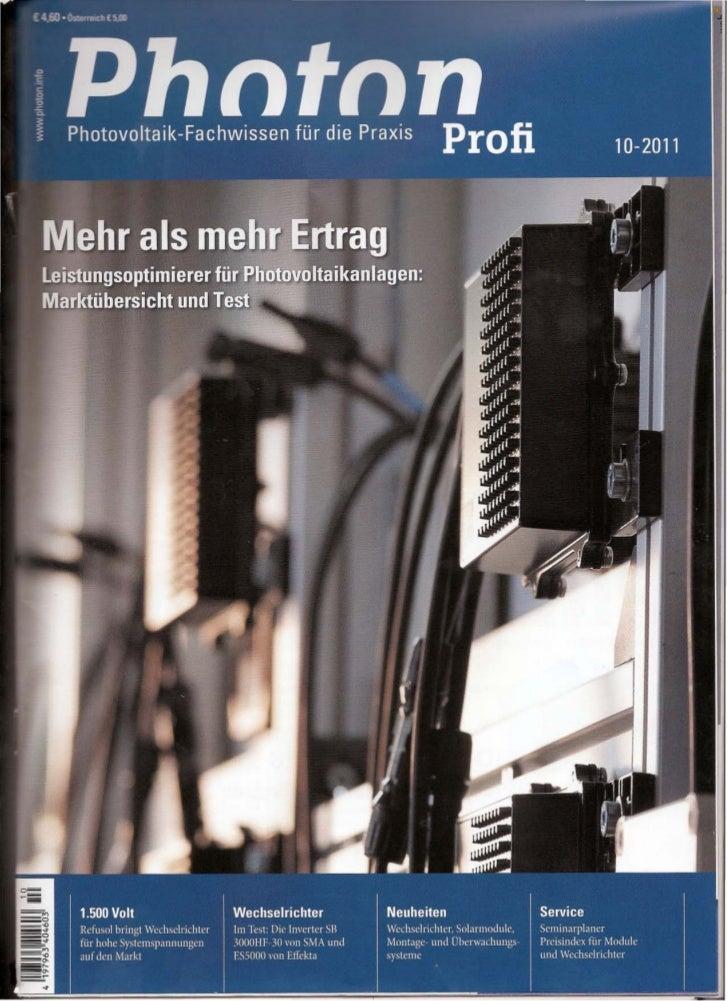 Einkauf I Wechselrichtertest                      Von der Traufe in den Regen             Der Effekta ES5000 fiel im PHOTO...