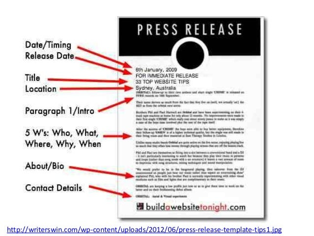 Sample Press Release Format