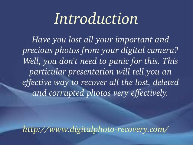 Easy Process To Recover All Lost Photos
