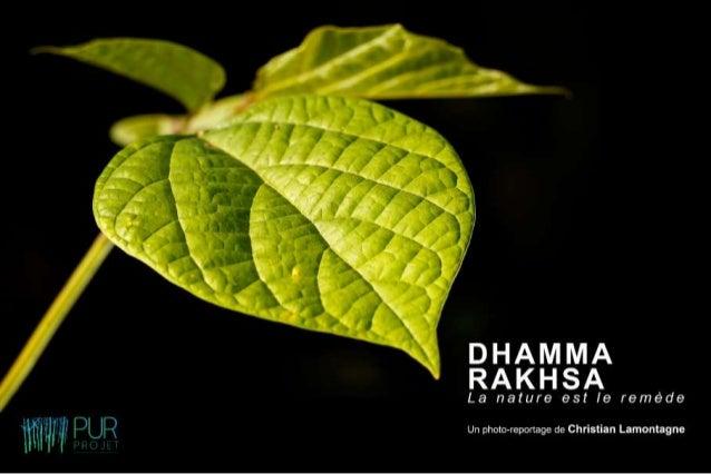 "Dhamma Rakhsa ""La nature est le remède"""