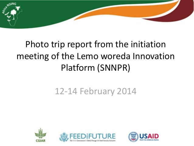 Photo trip report from the initiation  meeting of the Lemo woreda Innovation  Platform (SNNPR)  12-14 February 2014