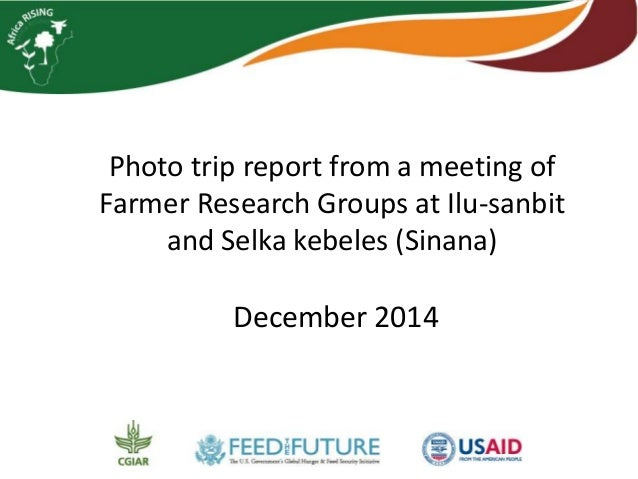 Photo trip report from a meeting of Farmer Research Groups at Ilu-sanbit and Selka kebeles (Sinana) December 2014