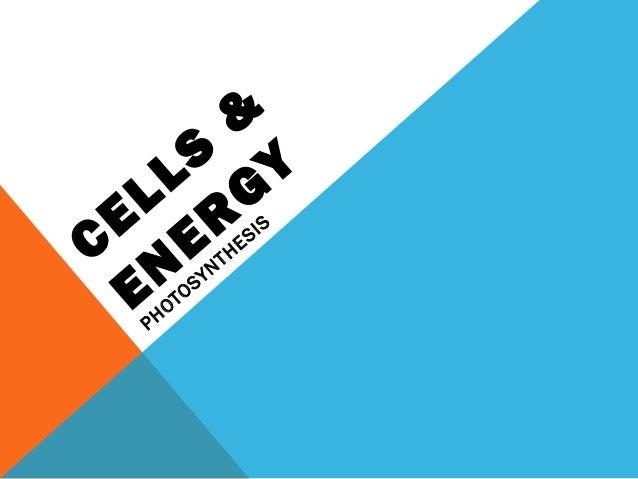 CELLS & EN ER GY PHOTOSYNTHESIS