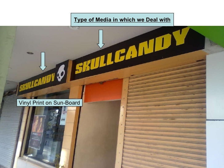 Vinyl Print on Sun-Board Type of Media in which we Deal with