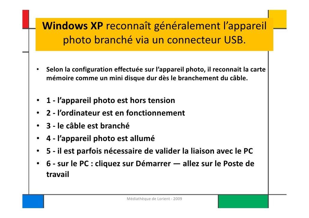 Photos numeriques et Windows XP Slide 2