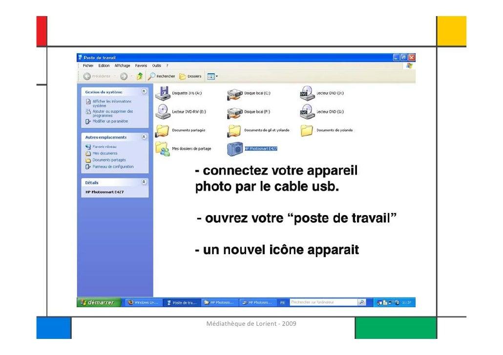 Photos numeriques et Windows XP Slide 3